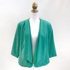 X-Two Pleated Open-Front Blazer